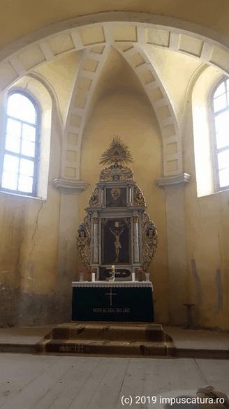 Der Altarraum der Kirchenburg in Hamba (Hahnbach)