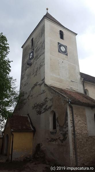 Der Turm der Kirchenburg von Hammersdorf (Gușterița)