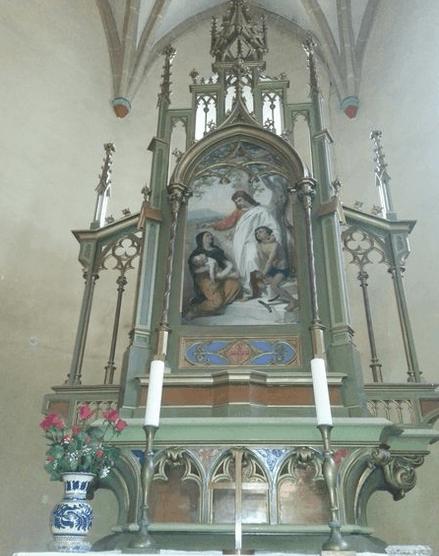 Altar in Hammersdorf (Gușterița)