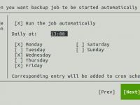 Scheduler für automatische Datensicherung