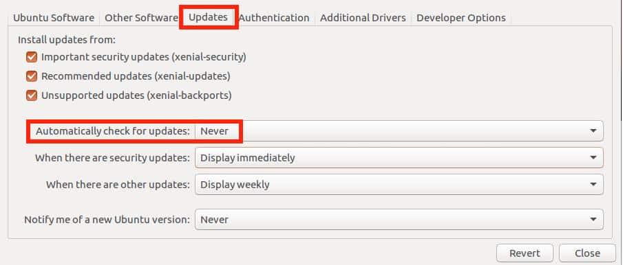Der Fehler beim manuellen Update wird durch diese Einstellung vermieden