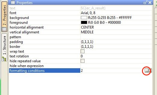 formatting conditions