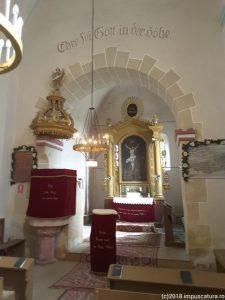 Innenraum der Wehrkirche in Freck (Avrig)
