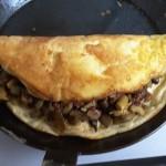Waldpilze mit Schaum-Omelette