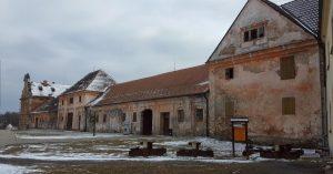 Die Wirtschaftsgebäude des Stifts Tepl