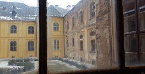 Blick in den Innenhof des Stifts Tepl