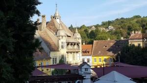Blick in die Stadt Schäßburg