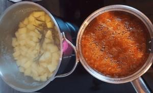 Kartoffeln und die Biersoße