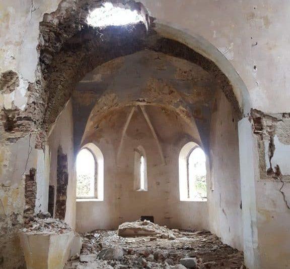 Innenraum der Biserica luterană fortificată (Dobărca)