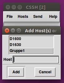 Zusätzliche Hosts verbinden