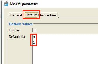 Default Parameter anlegen