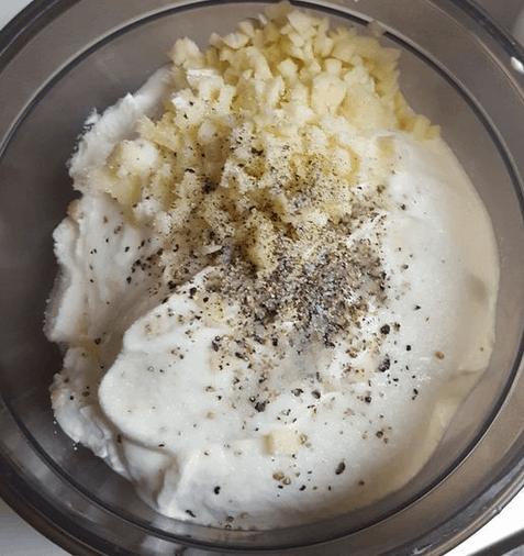 Zutaten für die Knoblauchsoße
