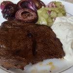 Die Grillsaison ist eröffnet: Entrecôte mit Salaten