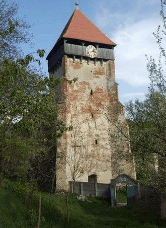 Der Wehrturm der Kirchenburg in Hamba (Hahnbach)