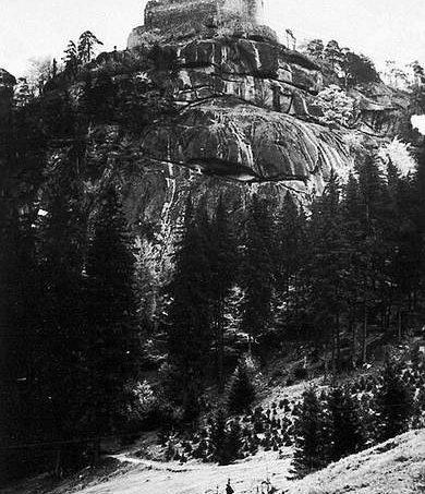 Burg Kynast in einer Aufnahme von 1926