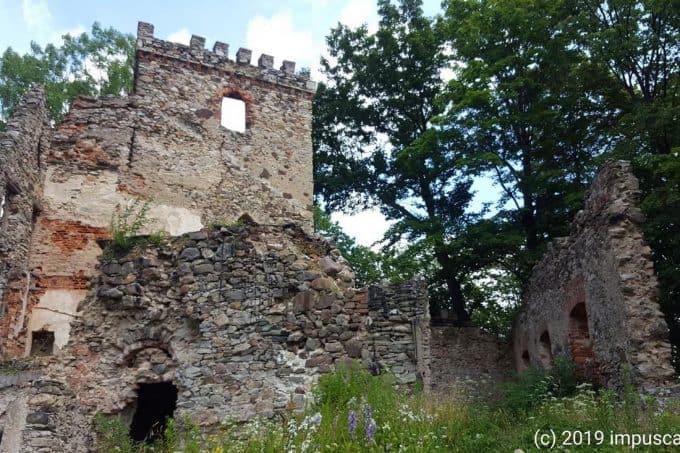 Burg Leipe (Lipa) in Niederschlesien
