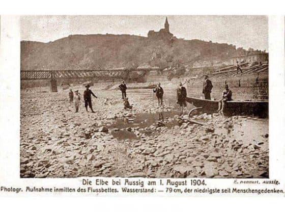 Die Elbe bei Aussig 1904
