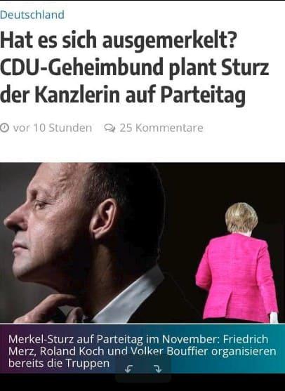 CDU-Geheimbund plant Sturz der Kanzlerin