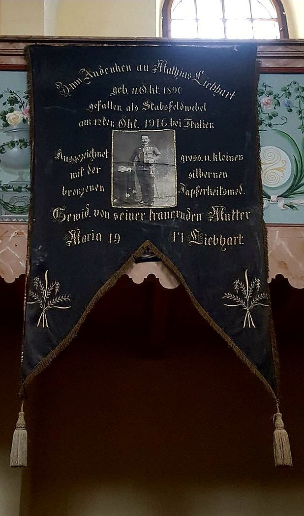 Gedenkfahne aus Turnișor (Neppendorf)
