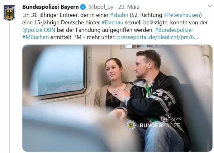 Die Bundespolizei Bayern tweetet