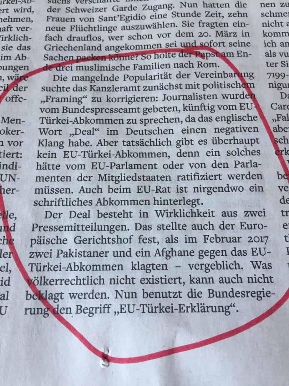 Ein Flüchtlings-Abkommen zwischen der EU und der Türkei gibt es nicht!